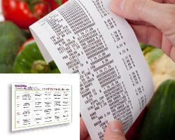 Budget meal planner with sample menus