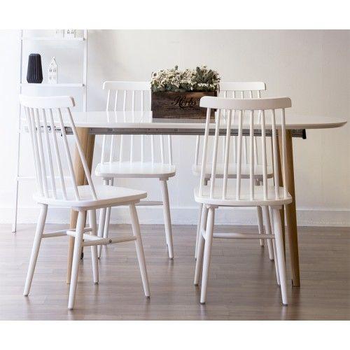 10 ideas sobre sillas de comedor blancas en pinterest for Sillas blancas tapizadas