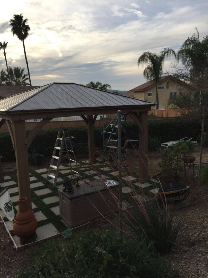 12 X 14 Wood Gazebo With Aluminium Roof In 2020 Gazebo Aluminum Roof Outdoor Living Space