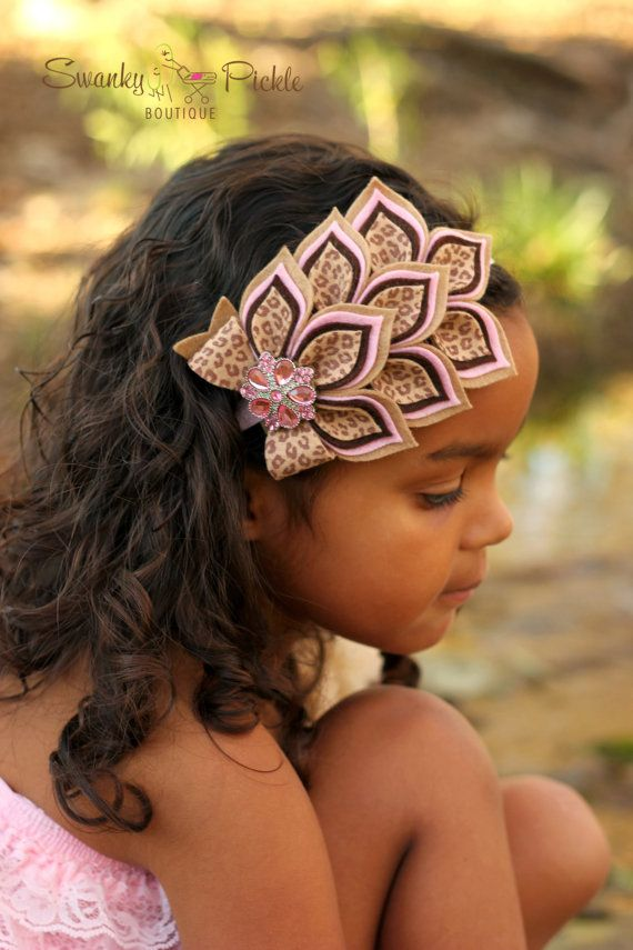 Pink Brown Cheetah Leopard Headband Wool by SwankyPickleBoutique, $21.50