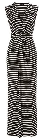 Black/Ivory Wrap Maxi Dress.