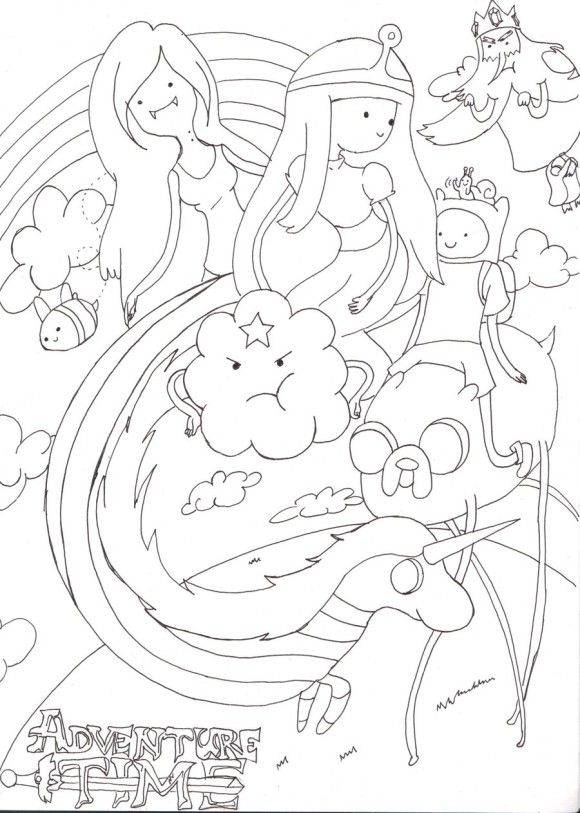 Kids Adventure Time Coloring Pages