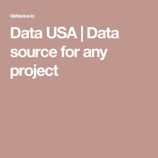 Data USA | Data source for any project