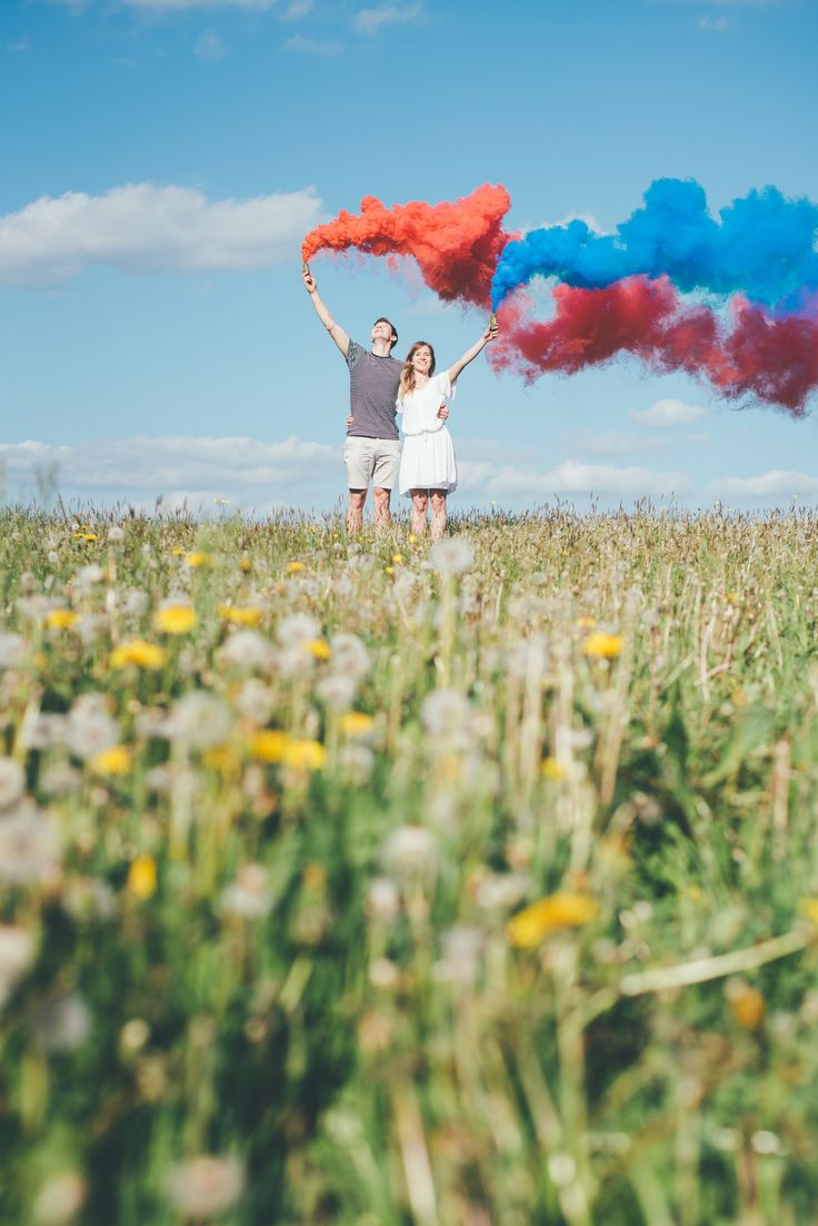 Matt Fox Photography - Blog - Joe & Chloe's Engagement Smoke Bomb Shoot