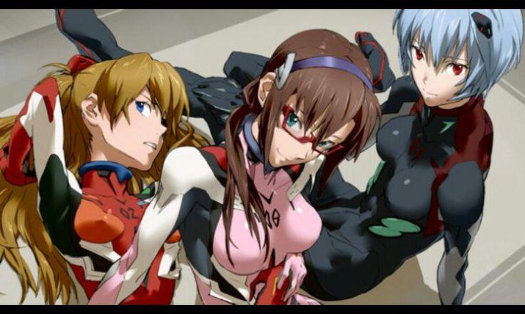La chicas de Evangelion