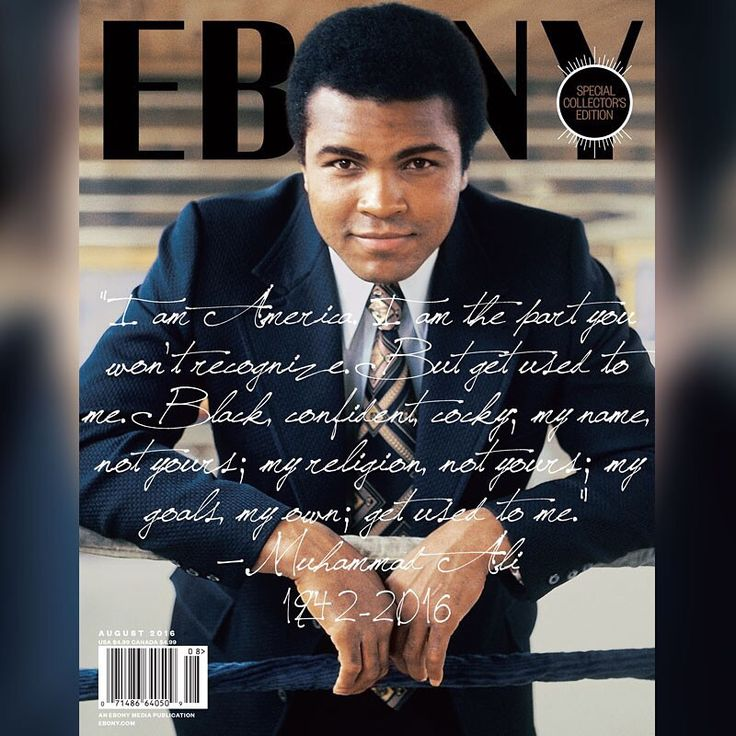 G.O.A.T #muhammadali #goat #legend #champion #activist #sassyblog #ebony #magazine #cover