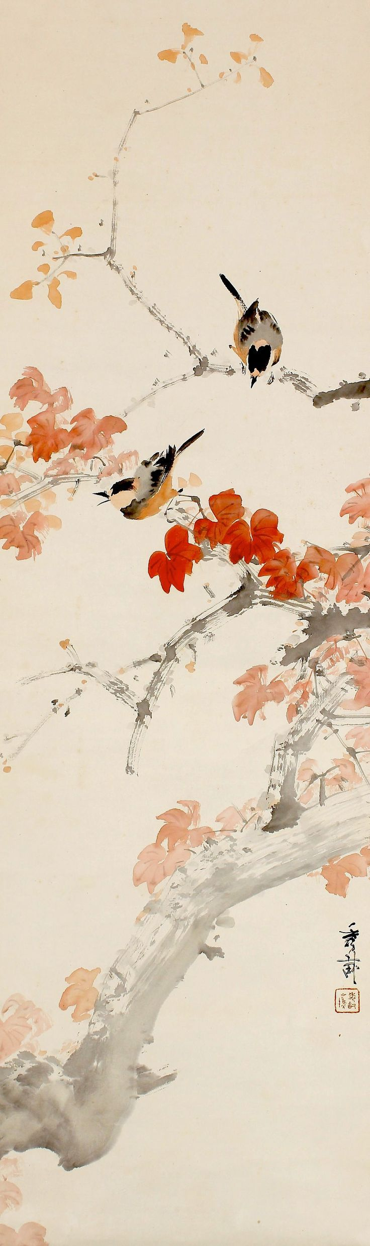 Ikegami Shuho 池上秀畝 (1874-1944), Autumn Sparrow
