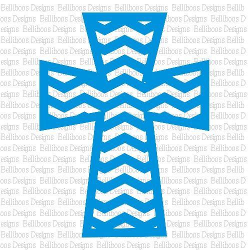 Belliboos Chevron Cross SVG