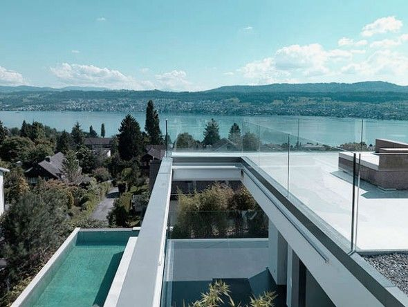 Brilliant House Design in Zurich with Amazing Lake View: Stunning Lake View for Amazing House Design Ideas