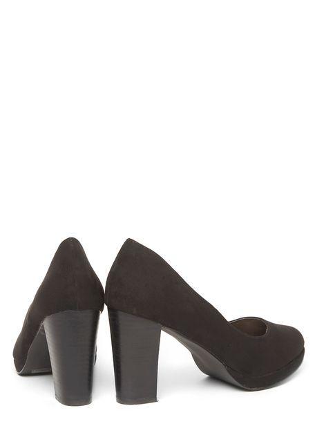 d9fe4ddecf4 Extra Wide Fit Black Platform Court Heel £28