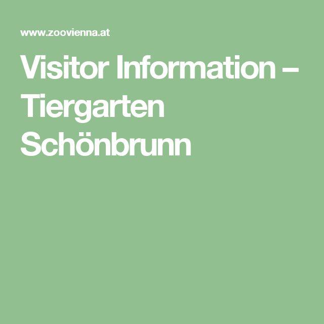 Visitor Information – Tiergarten Schönbrunn