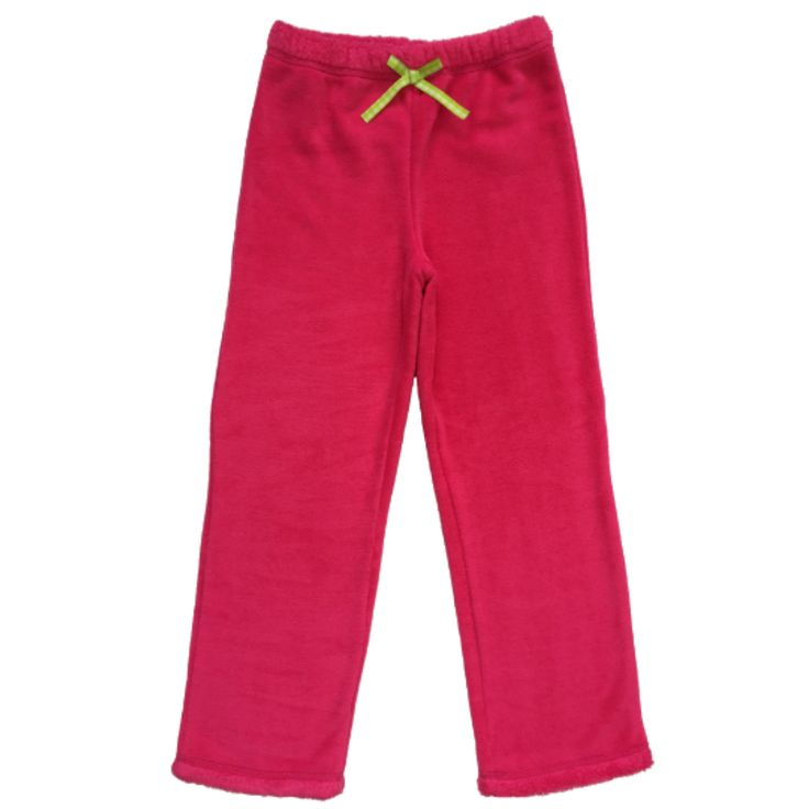 Girl's Solid Pink Fur Pants