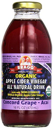 Bragg Organic Apple Cider Vinegar Grape and Acai 16 oz