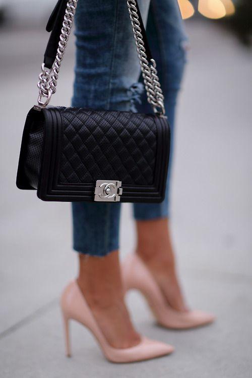Что одеть с сумкой chanel