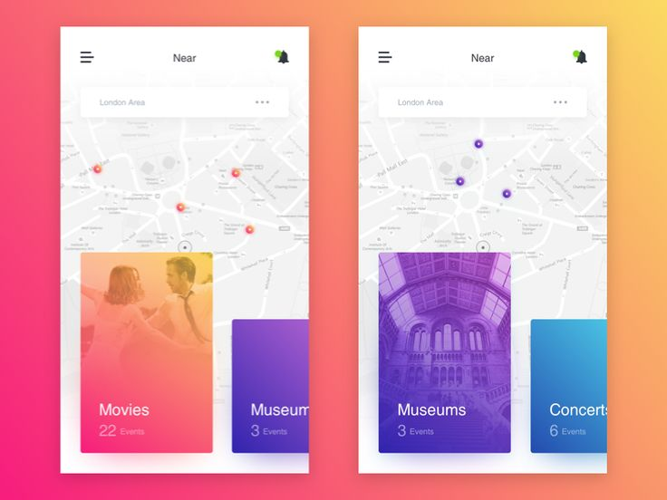 Near - Events App Concept by Karlo