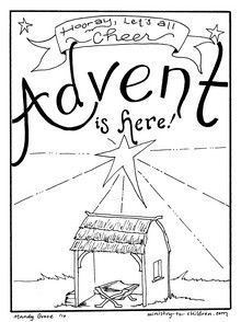 beautiful Advent coloring sheets!