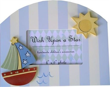Nautical Picture Frame by Wish Upon A Star - RosenberryRooms.com