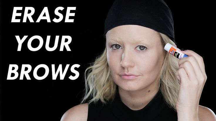 The Trick to Erasing Your Eyebrows For a Costume: Dark brows. Blond brows. Yes brows.