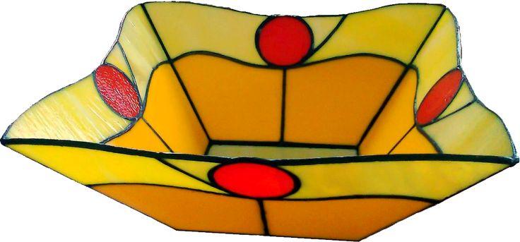 Sárga hullám tál