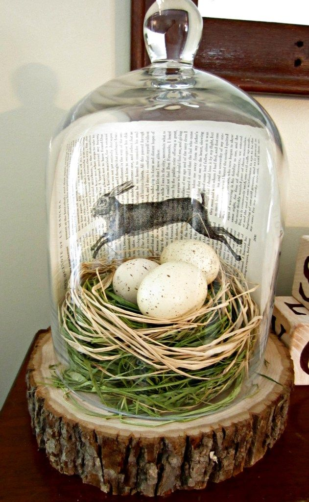 cloche with book page art