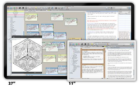 Scrivener - This program is an amazing tool for writers. Whether you're writing a short story, research paper or grant proposal, Scrivener helps you with drafts, formatting and structure.