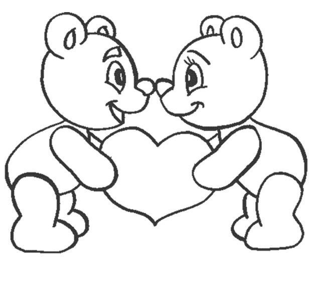 Teddy Bear Love Coloring Pages Dibujos Faciles De Amor Dibujos Faciles Corazon Para Colorear