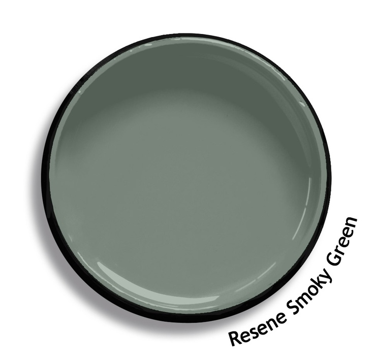 Resene Smoky Green is a classic soothing blue green. From the Resene Karen Walker Paints colour range. Try a Resene testpot or view a physical sample at your Resene ColorShop or Reseller before making your final colour choice. www.resene.co.nz/karenwalker.htm