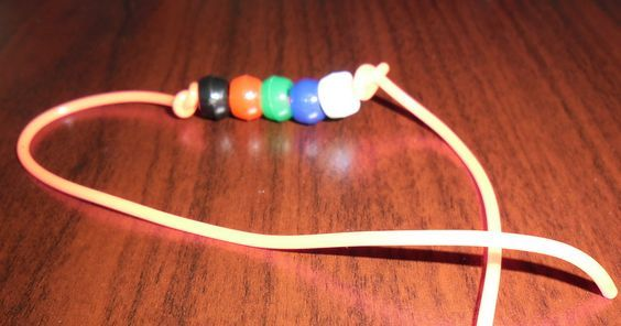 First Reconciliation Prayer Bracelet. Children preparing for First Reconciliation at St. Stephen the First Martyr parish make Prayer Bracelets to encourage them to learn their prayers and to get parents involved, too.: