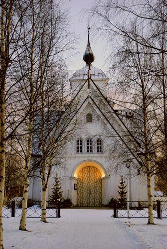 Sweden -- Pite church in winter