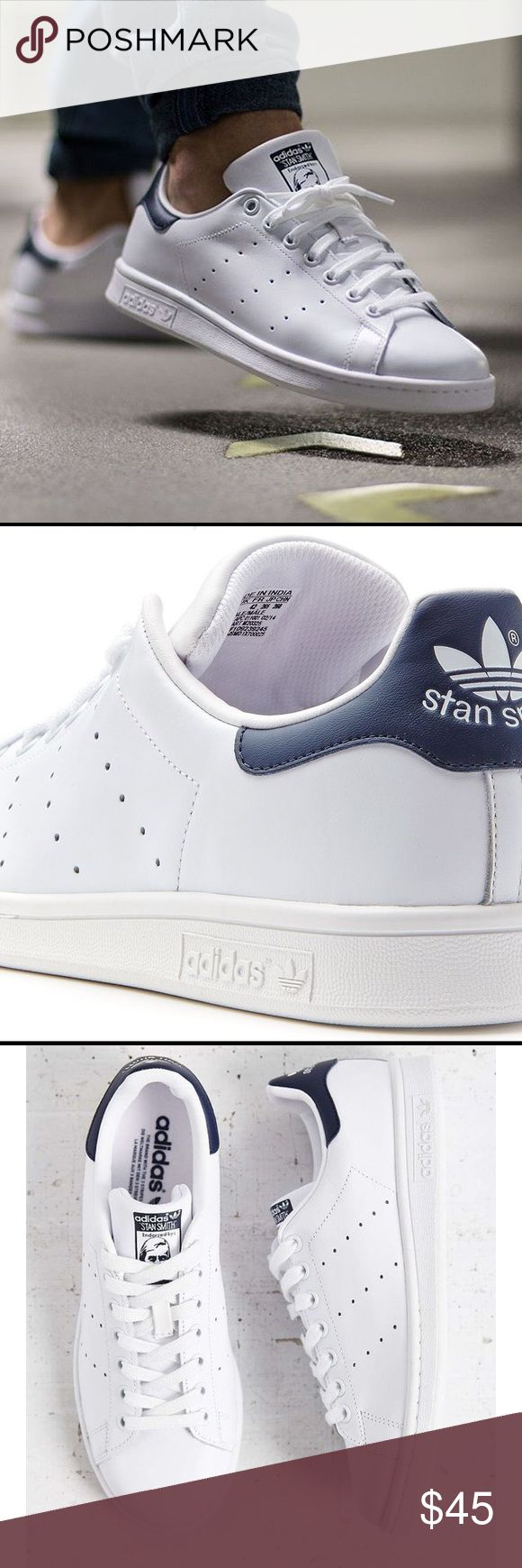 Men's Adidas Stan Smith Originals Men's Adidas Stan Smith Originals  Full Grain Leather Upper  Classic White and Navy  Excellent Condition 👌🏾 Smoke free home🚭 15% off of 4 or more bundled items! Adidas Shoes Sneakers
