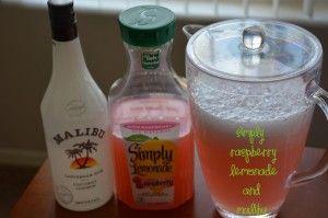 Simply Raspberry Lemonade and Malibu - Wifey's Kitchen