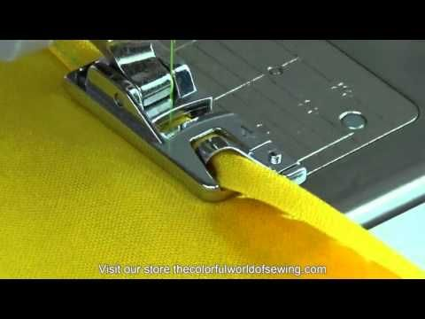 How To Sew Rolled Hems with the Narrow Hemmer Foot - YouTube