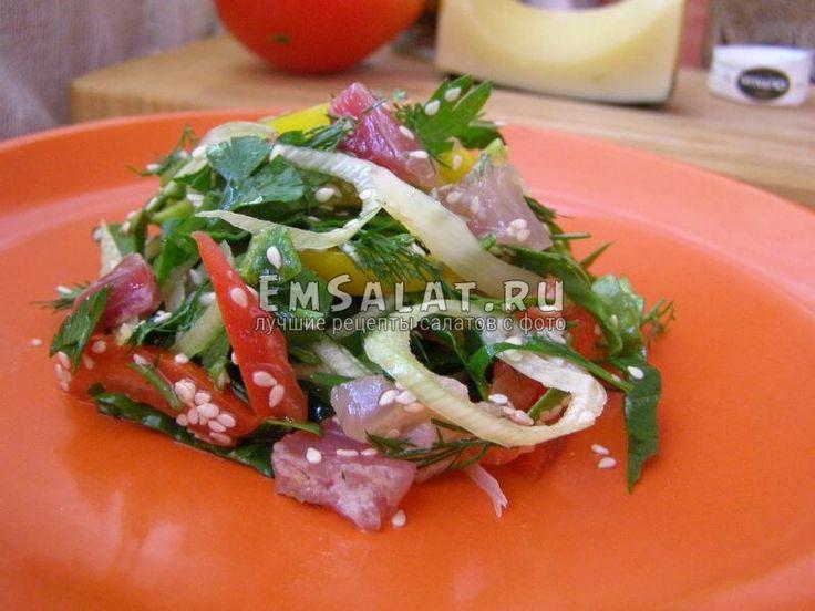 Салат с вяленой рыбой - http://emsalat.ru/salad_veget/salat-s-vyalenoy-ryiboy.html