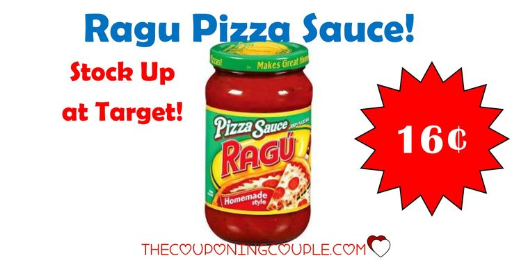 BEST PRICE AROUND! Get Ragu Pizza Sauce for only $0.16 per jar at Target! Stock up at this price!  Click the link below to get all of the details ► http://www.thecouponingcouple.com/hot-ragu-pizza-sauce-for-0-16-at-target/ #Coupons #Couponing #CouponCommunity  Visit us at http://www.thecouponingcouple.com for more great posts!
