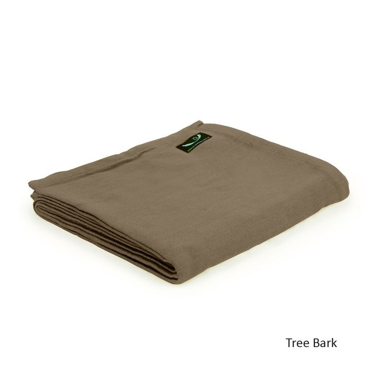 Organic Cotton Yoga Blanket in Tree Bark