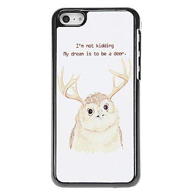Uil met hertenkop Patroon Aluminous Hard Case voor iPhone 5C – EUR € 5.75