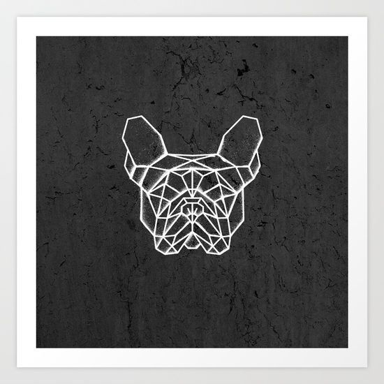 French Bulldog Art Print. #geometric #french #bulldog