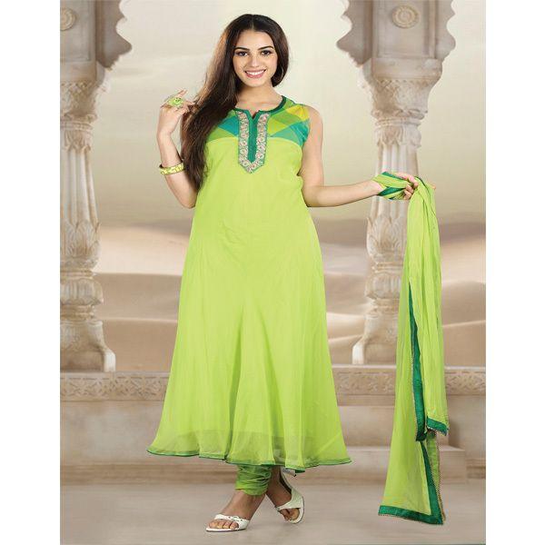 TrendsBay - Parrot Green Salwar Suit, ₹4,650.00 (http://www.trendsbay.com/parrot-green-salwar-suit/)