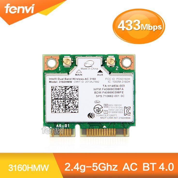 $8.78 (Buy here: https://alitems.com/g/1e8d114494ebda23ff8b16525dc3e8/?i=5&ulp=https%3A%2F%2Fwww.aliexpress.com%2Fitem%2FDual-Band-Wireless-AC-3160-3160HMW-half-Mini-PCI-e-bluetooth-Wireless-wifi-card-WI-FI%2F32451746236.html ) Dual Band Wireless-AC 3160 3160HMW half Mini PCI-e bluetooth Wireless wifi card WI-FI 802.11 ac+Bluetooth 4.0 up to 433 Mbps for just $8.78