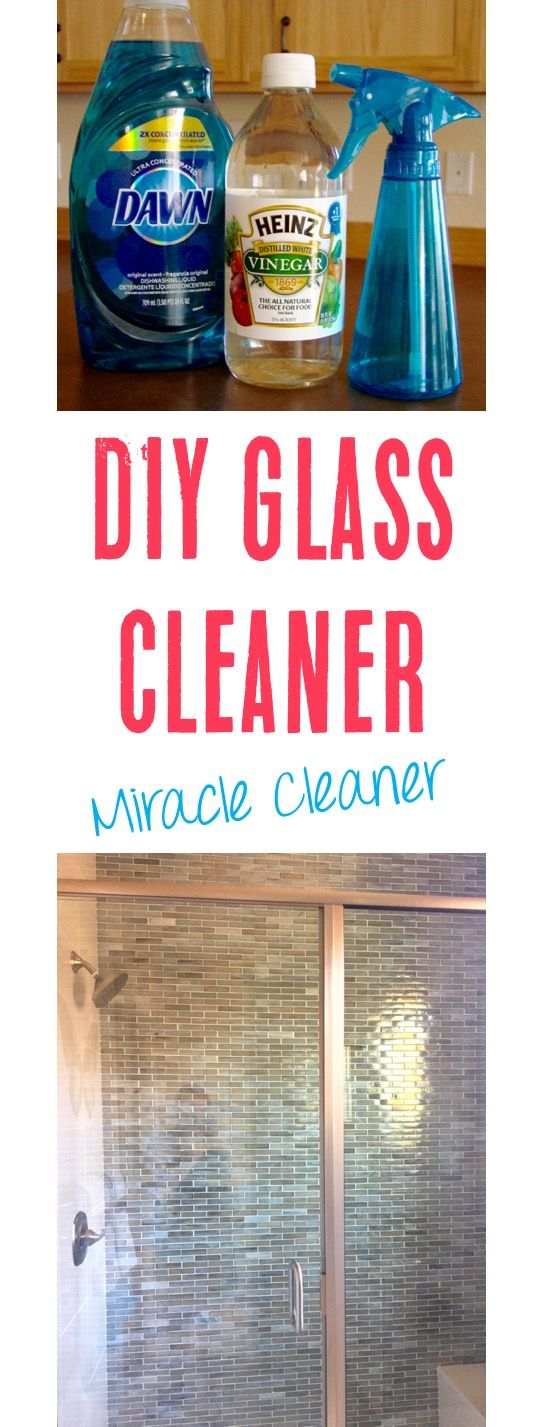 Homemade Glass Cleaner with Vinegar Recipe!  This is the BEST miracle cleaner, and works so much better than store bought versions.  Streak free and saves so much money!! | TheFrugalGirls.com