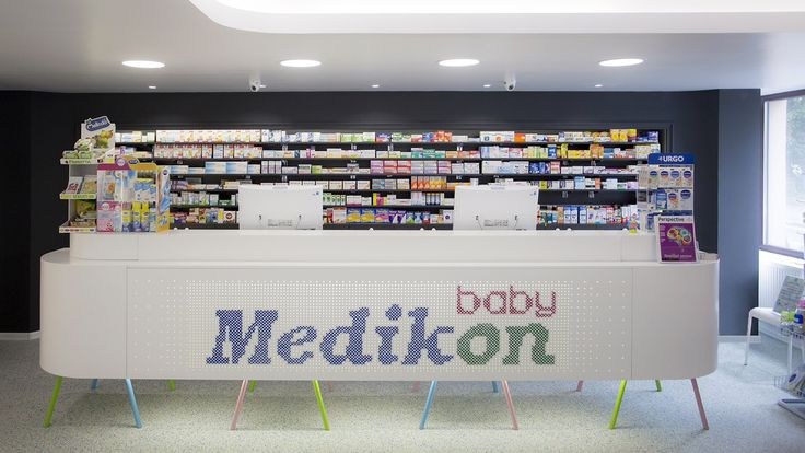 Project: Baby Pharmacy   Client: Medikon   Design: MIOLK   Furniture: Mobiera