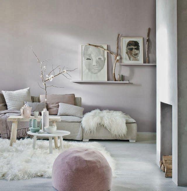 Zachte kleuren gecombineerd met natuurlijke materialen, heel romantisch