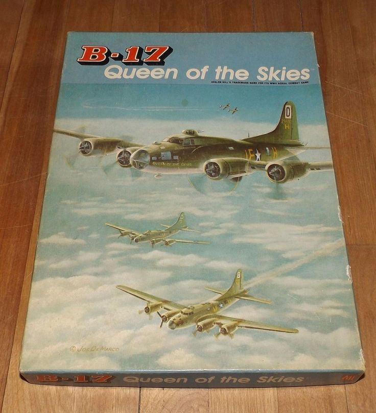 B-17 Queen Of The Skies war game AVALON HILL complete