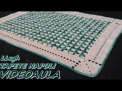Passo a Passo Tapete em fio conduzido em diagonal sem Flor - Pink Artes Croche by Rosana Recchia - YouTube