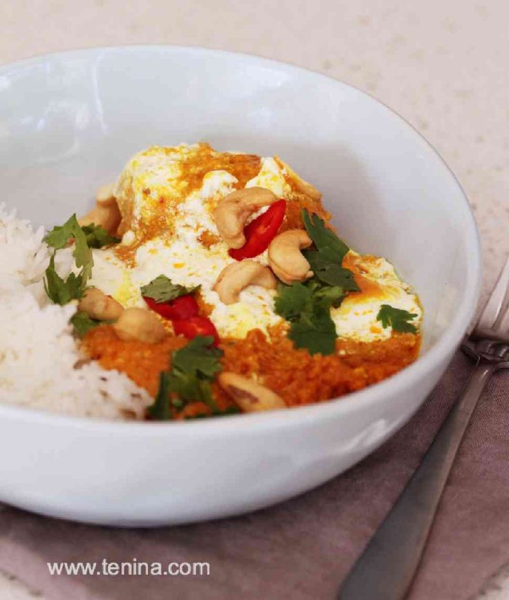 Thermomix recipe: Cashew Chicken Curry · Tenina.com
