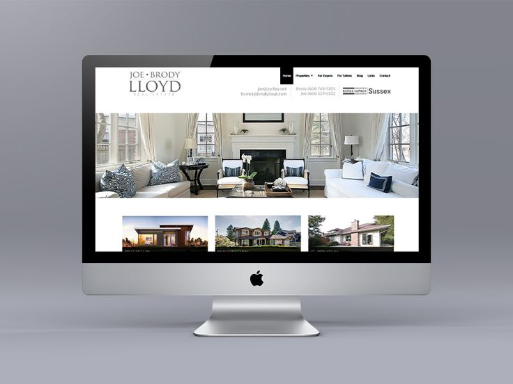 This new website for North Vancouver Realtors Joe Lloyd and Brody Lloyd is our first using the new Ubertor Responsive template. We also created the logo and a suite of branded marketing materials.