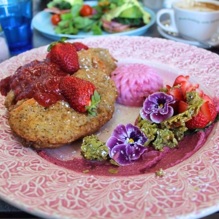 Best breakfast in the world at Cardamom Pod Brickworks.  Chia encrusted French Toast with Pistachio Brittle and all sorts of yumminess.