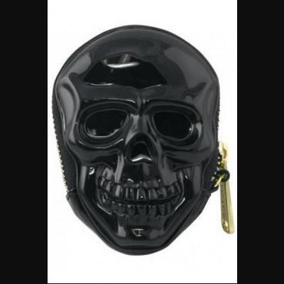 3D Skull Shaped Black Coin Purse by Loungefly