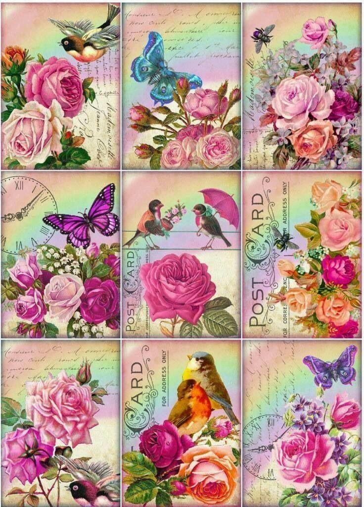 Цветные открытки на принтере, днем