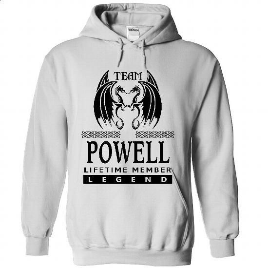 25122603 Team Powell Lifetime Member Legend - #sweater pattern #sweater shirt. BUY NOW => https://www.sunfrog.com/Names/25122603-Team-Powell-Lifetime-Member-Legend-3399-White-33533490-Hoodie.html?68278